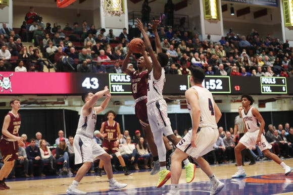 Iona defeated Stepinac 60-55 to win the Crusader Classic at the Westchester County Center in White Plains Jan. 4, 2019. The game drew a crowd of 2,819.