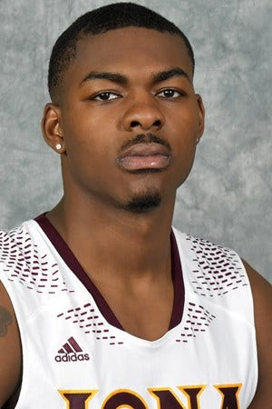 Headshot of Iona men's basketball player Tajuan Agee