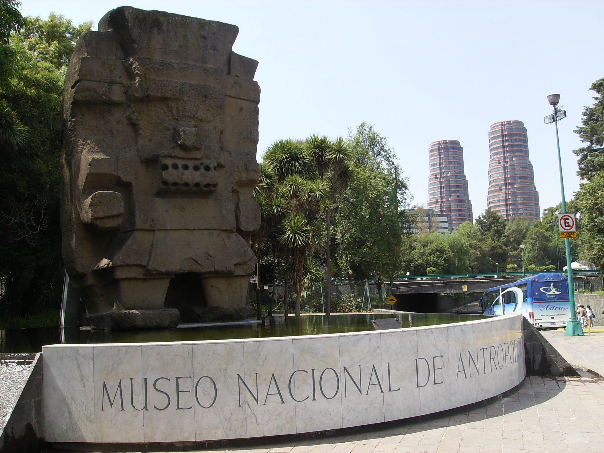The Museo Nacional de Antropología in Mexico City houses incredible archaeological and anthropological finds, including art and artifacts from the Mayan, Aztec and Olmec civilizations. The building's distinctly modern design contrasts with the historic findings inside.