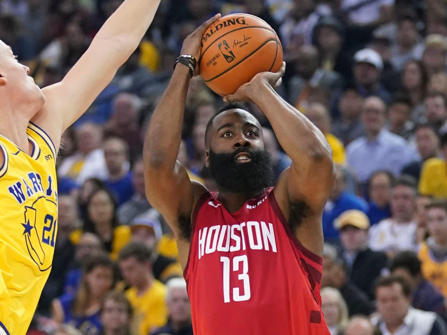 43. James Harden, Rockets (Jan. 3): 44 points, 15 assists, 10 rebounds in 135-134 win over Warriors (fifth of season).