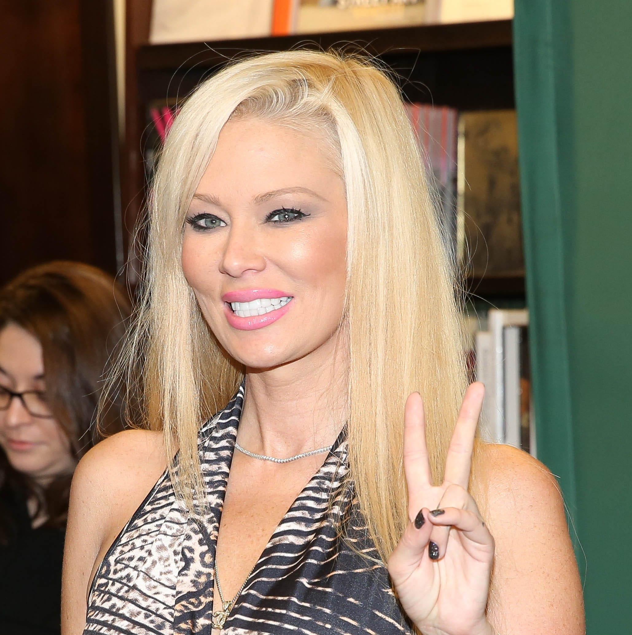 "Jenna Jameson signs copies of her new book ""Sugar"" on Oct. 22, 2013 in New York."