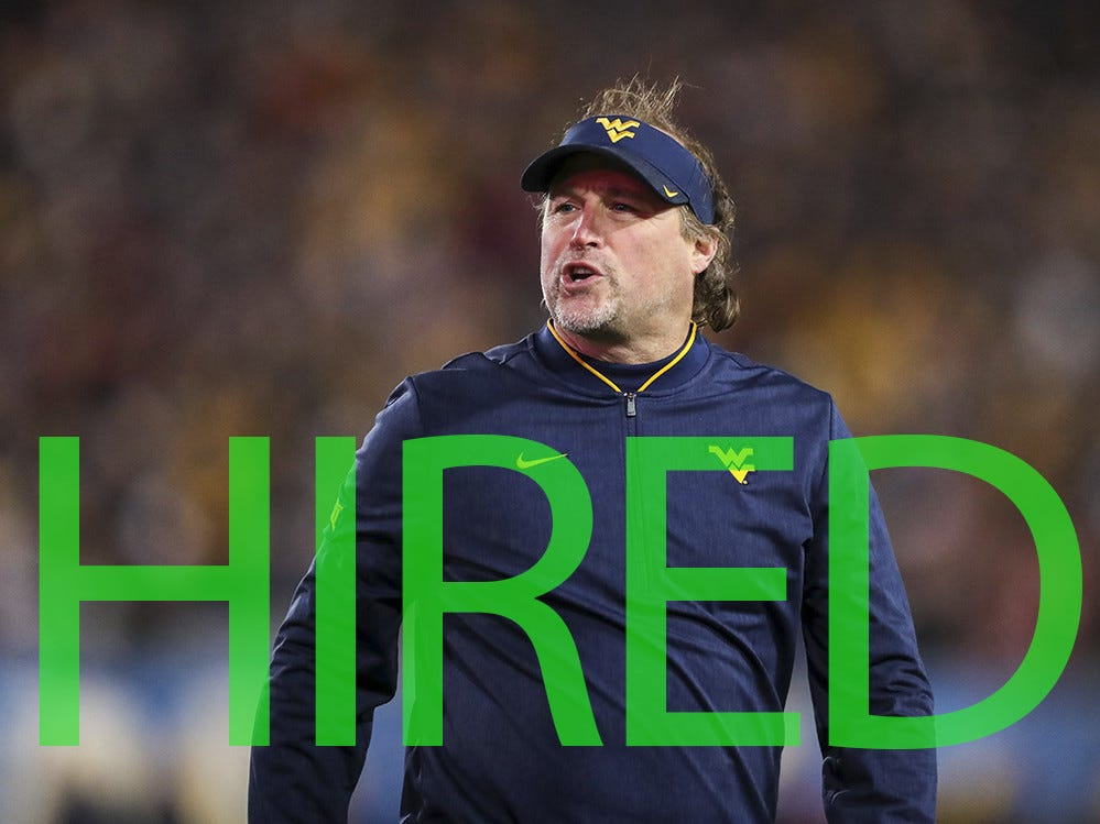 Dana Holgorsen was hired by Houston. A former offensive coordinator for the Cougars, Holgorsen spent the past eight seasons as head coach of West Virginia, posting a 61-41 record.