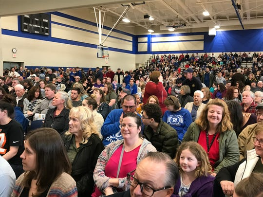 A packed house estimated at 1,500 crowded into the new Chillicothe Intermediate School gym and cafeteria area for a ceremony officially opening the new building.