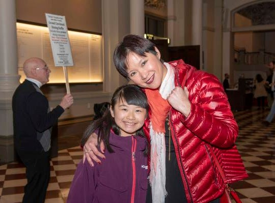 "A night out at Music Hall with the CSO.  Guest conductor Karina Canellakis returned to Music Hall to lead the CSO in a ""Romantic Rachmaninoff"" program that featured pianist Kirill Gerstein performing the composer's Piano Concerto No. 3. Chi  Chi Quo and Yuan Tan of Symmes Twp."