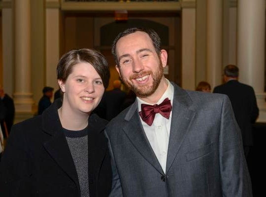 "A night out at Music Hall with the CSO.  Guest conductor Karina Canellakis returned to Music Hall to lead the CSO in a ""Romantic Rachmaninoff"" program that featured pianist Kirill Gerstein performing the composer's Piano Concerto No. 3. Amanda and Matt Wolfgang of Batavia."