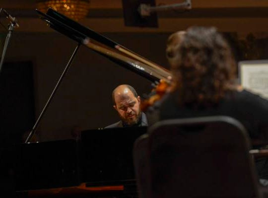 "A night out at Music Hall with the CSO.  Guest conductor Karina Canellakis returned to Music Hall to lead the CSO in a ""Romantic Rachmaninoff"" program that featured pianist Kirill Gerstein performing the composer's Piano Concerto No. 3. Kirill Gerstein returned to Music Hall."