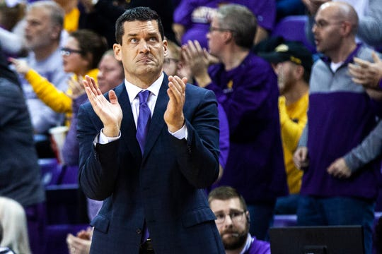 Ben Jacobson's Northern Iowa Panthers battled Valparaiso Wednesday night in the McLeod Center.
