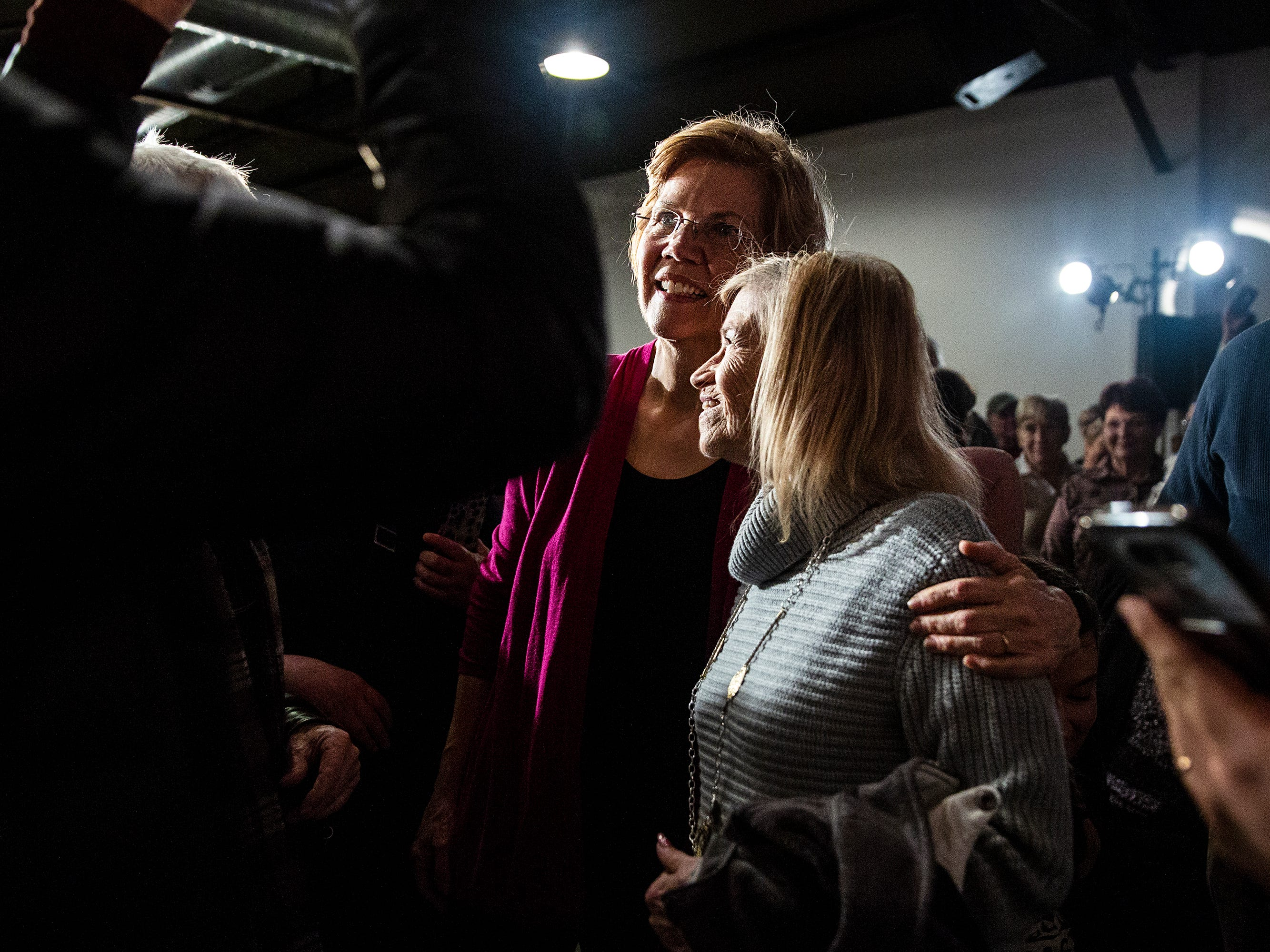 Elizabeth Warren, a potential 2020 presidential candidate, poses for photos on Saturday, Jan. 5, 2019, after speaking in Des Moines. She spent the weekend in Iowa also making stops in Council Bluffs, Sioux City, Storm Lake and Ankeny.