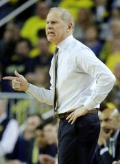John Beilein during the first half Sunday against Indiana. Michigan is 29-1 over its past 30 games.
