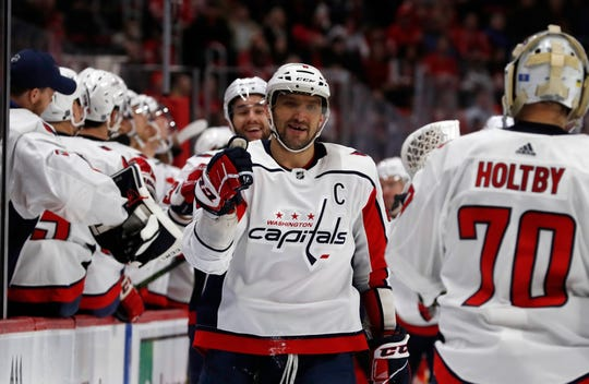 Capitals left wing Alex Ovechkin.