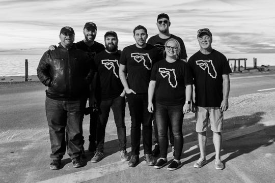 The Never Forgotten Coast Campaign Team (left to right), Jonathan Smith, Jeremy Cowart, Robert Hill, Alex Workman, Jesse Taylor, Chelsea Workman and Kevin Lanier, are helping struggling businesses in Mexico Beach.