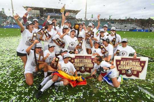 The Florida State soccer team claimed another national championship this year.