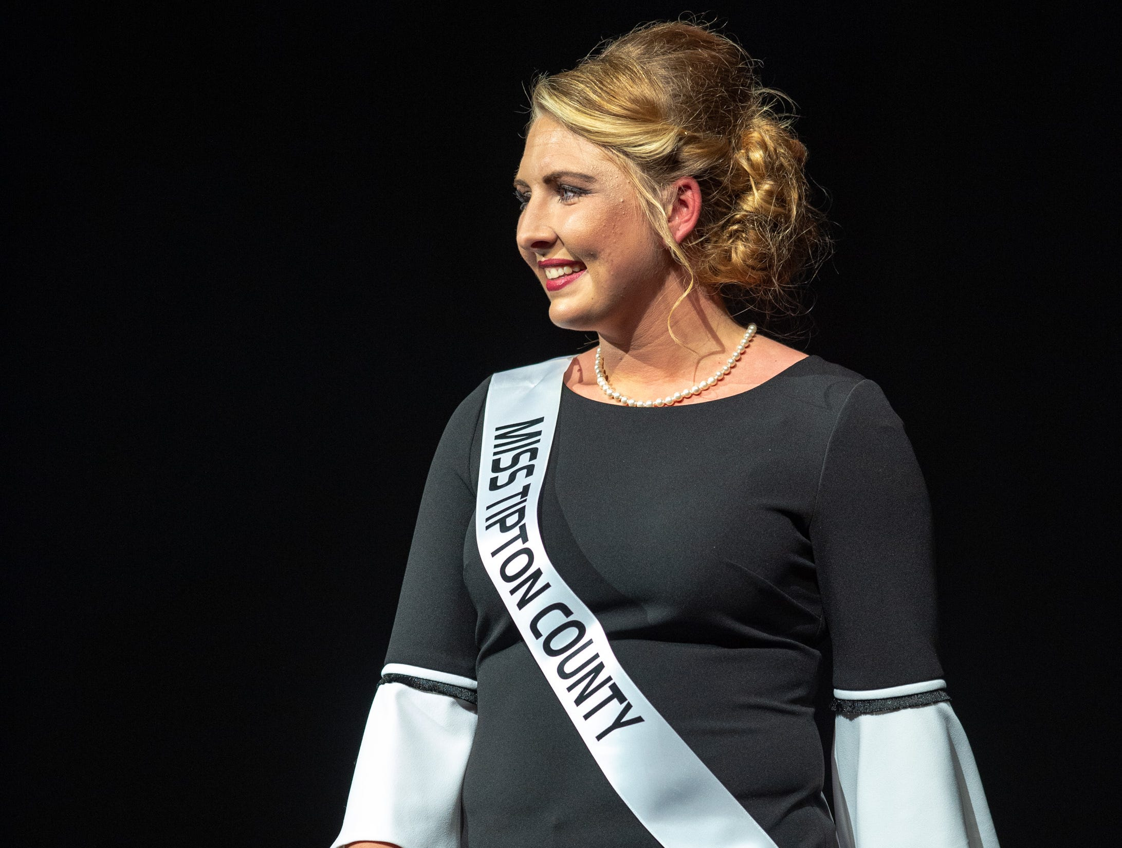 Miss Tipton County, Sylvia Harris, during the 61st Indiana State Fair Queen Pageant at the Indiana State Fairgrounds in Indianapolis on Sunday, Jan. 6, 2019.
