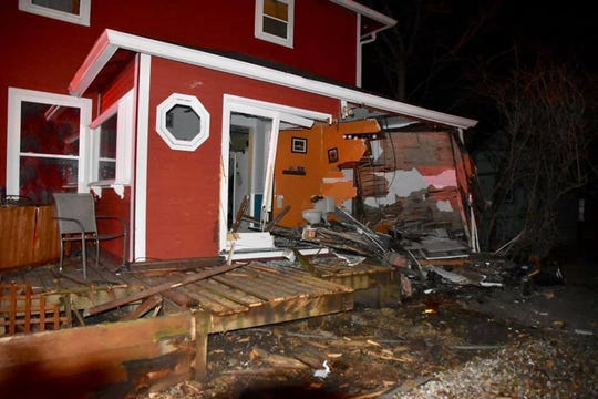A car ran plowed into Indy Hostel in Indianapolis during the early morning hours of Sunday, Jan. 6.