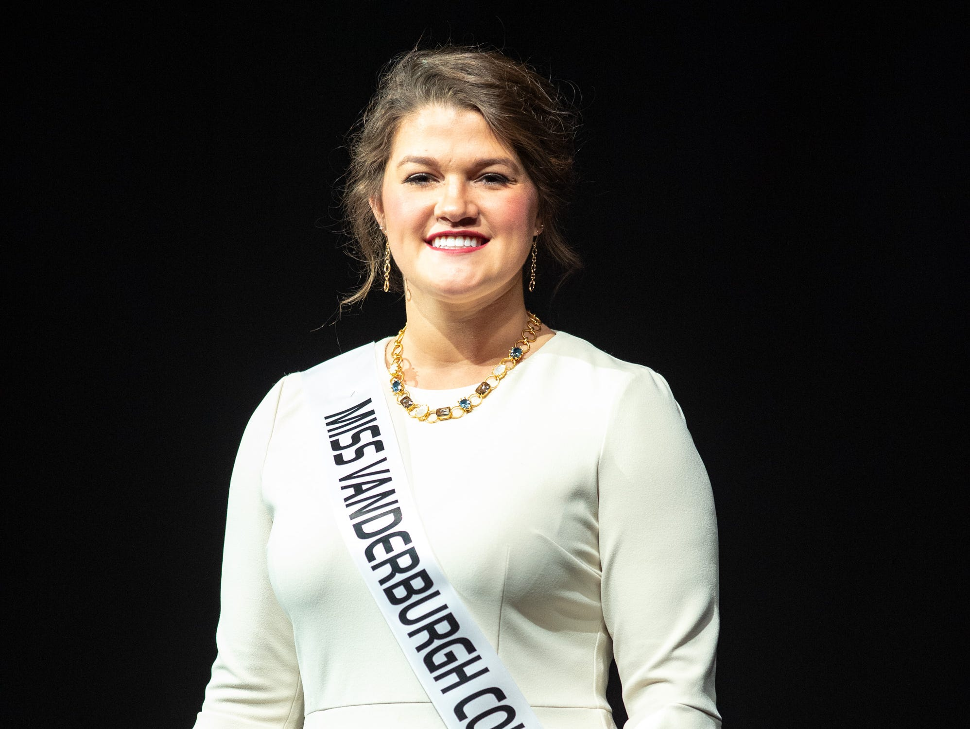 Miss Vanderburgh County, Lauren Ziliak, during the 61st Indiana State Fair Queen Pageant at the Indiana State Fairgrounds in Indianapolis on Sunday, Jan. 6, 2019.