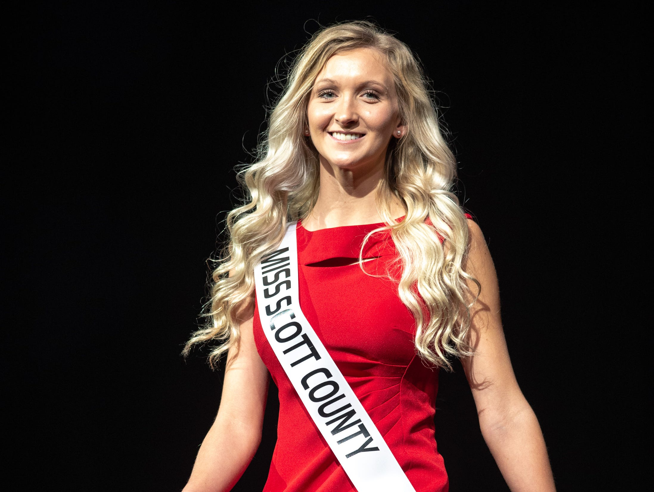 Miss Scott County, Jesse Mays, during the 61st Indiana State Fair Queen Pageant at the Indiana State Fairgrounds in Indianapolis on Sunday, Jan. 6, 2019.