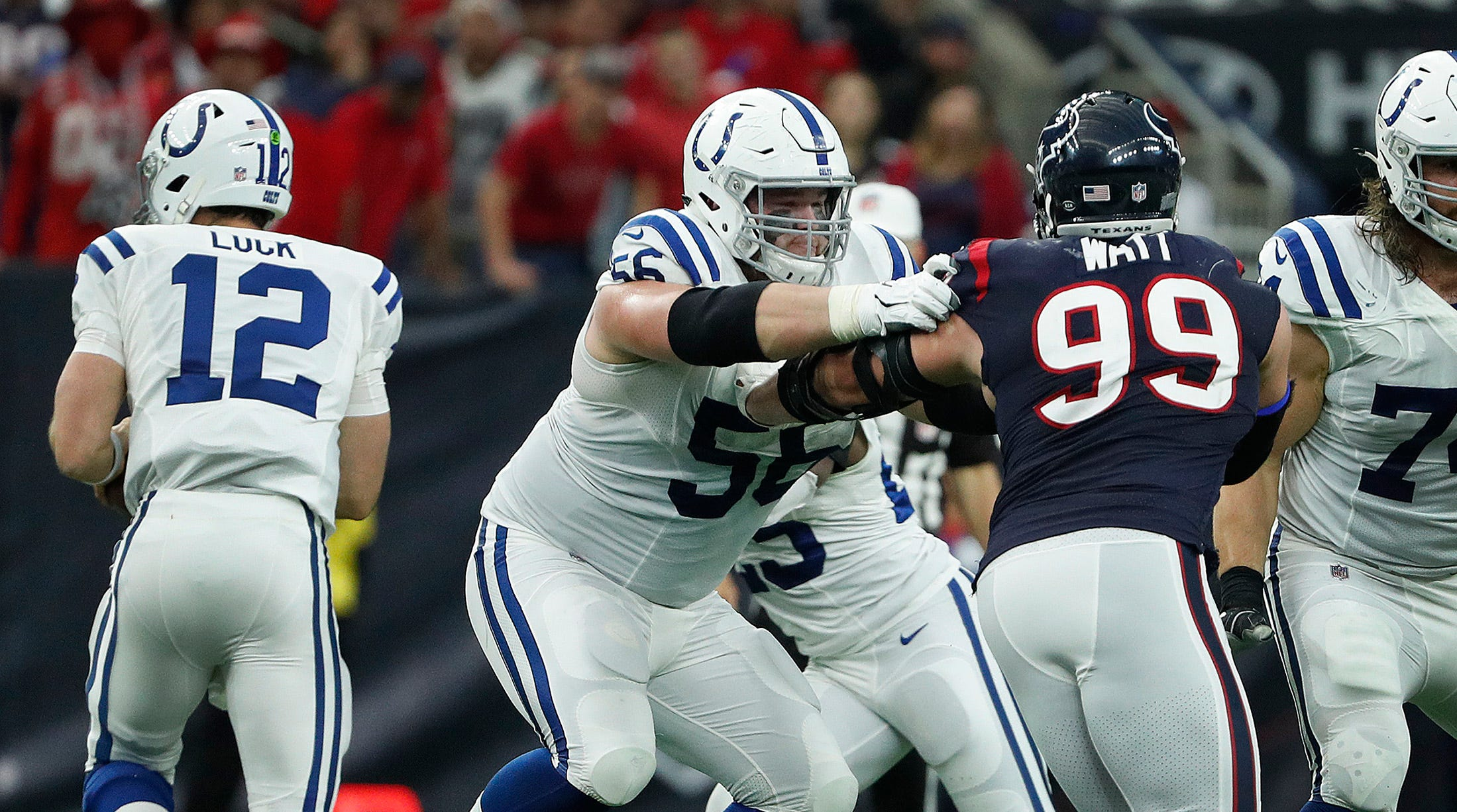 Indianapolis Colts offensive guard Quenton Nelson...