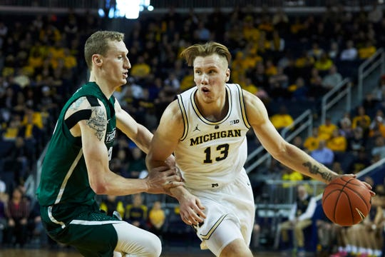 Wolverines forward Ignas Brazdeikis is one of the top freshmen in the nation.