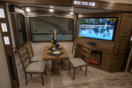 A 2019 Cougar 362 RKS, at the Indy RV Expo, Indiana State Fairgrounds, Indianapolis, Sunday, January 6, 2019. The show runs through the 13th.