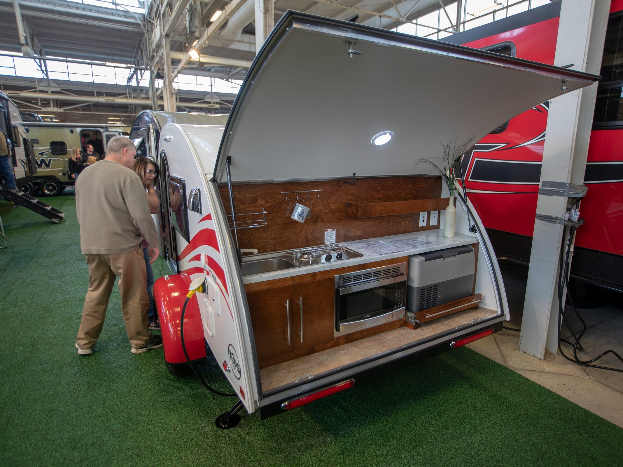 A small unit on display at the Indy RV Expo, Indiana State Fairgrounds, Indianapolis, Sunday, January 6, 2019. The show runs through the 13th.