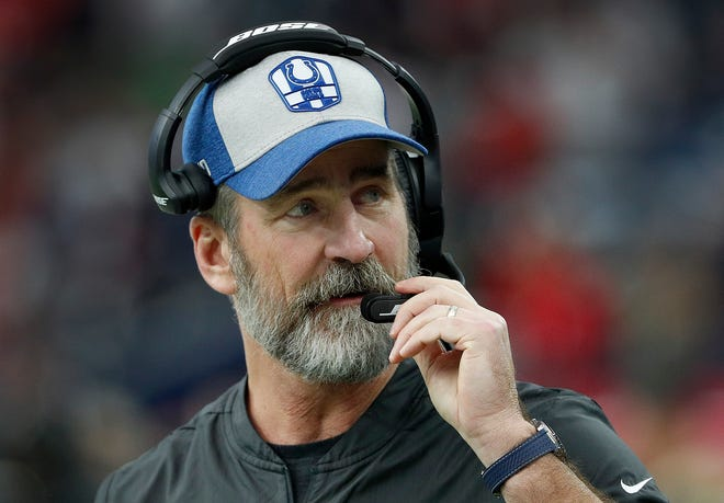 Indianapolis Colts head coach Frank Reich during their AFC Wild Card playoff game at NRG Stadium in Houston, TX., on Saturday, Jan. 5, 2019. The Indianapolis Colts defeated the Houston Texans 21-7