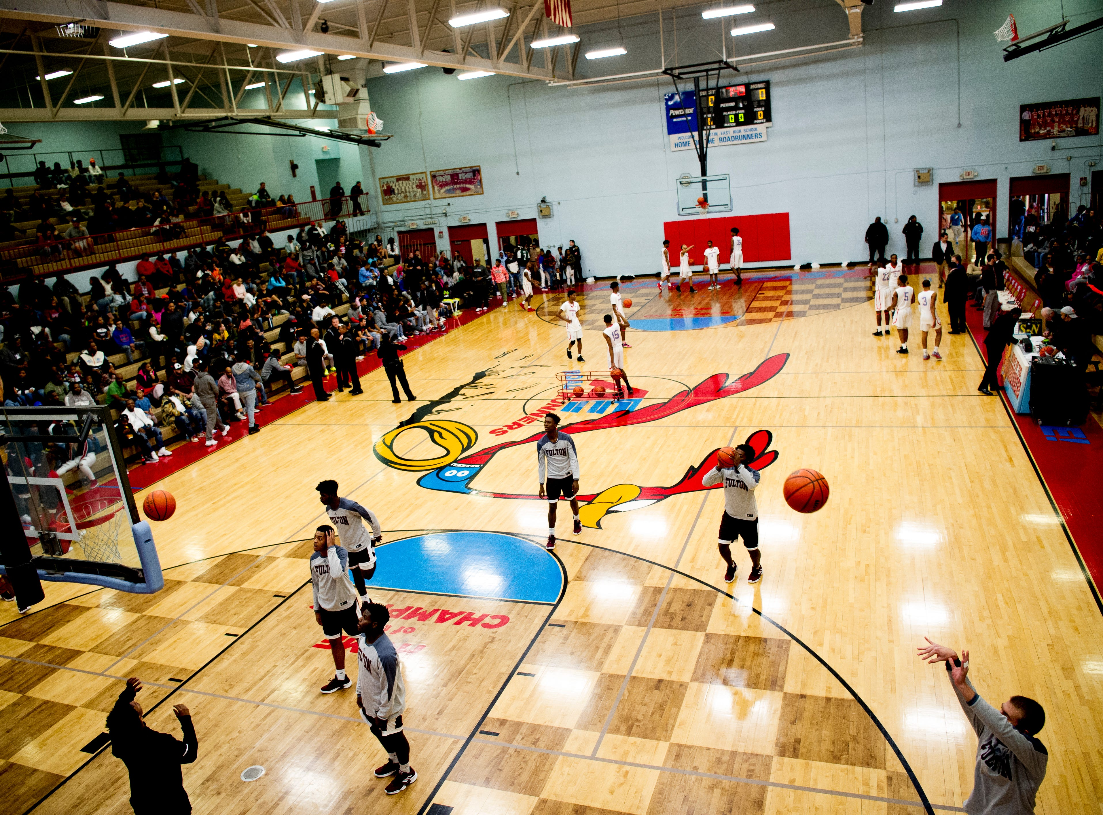 A view of the court during a game between Austin-East and Fulton at Austin-East High School in Knoxville, Tennessee on Saturday, January 5, 2019.