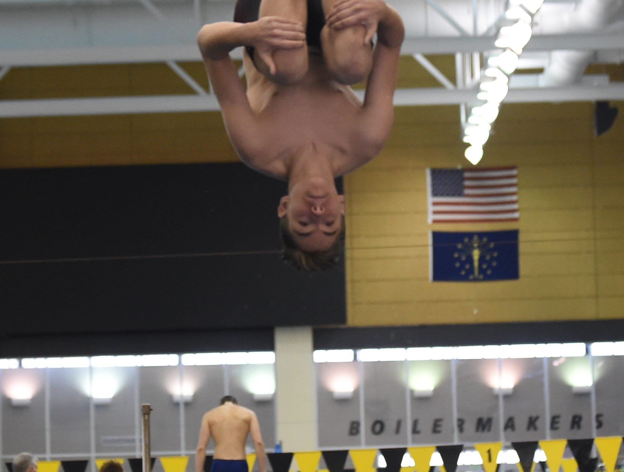 Images from Saturday's North Central Conference Swimming and Diving Championships at Purdue. Corbin Strimel.