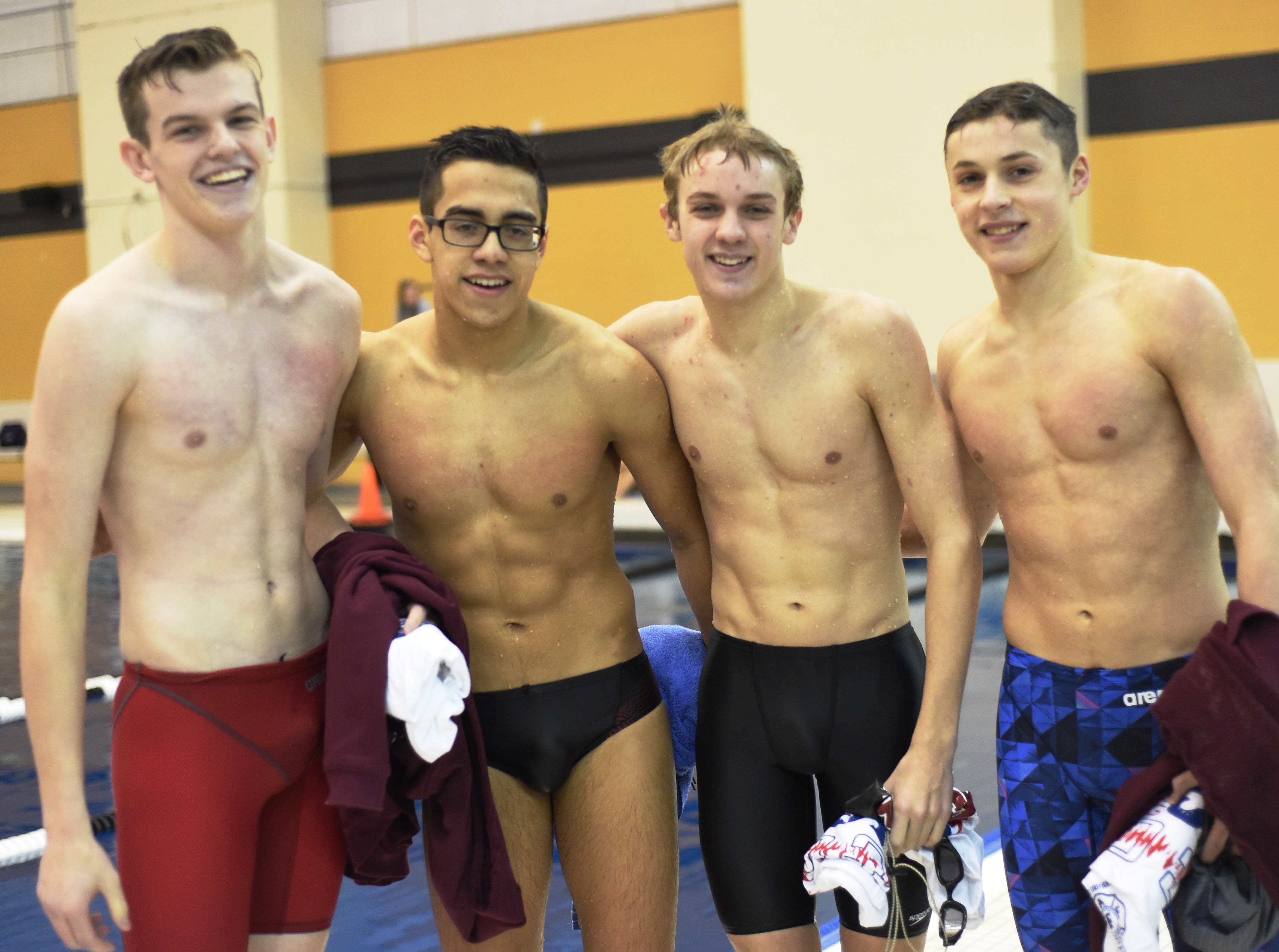 Images from Saturday's North Central Conference Swimming and Diving Championships at Purdue. Zach Weathers, Porfi Vasquez, Chase Merrell and Jonah McCutcheon.