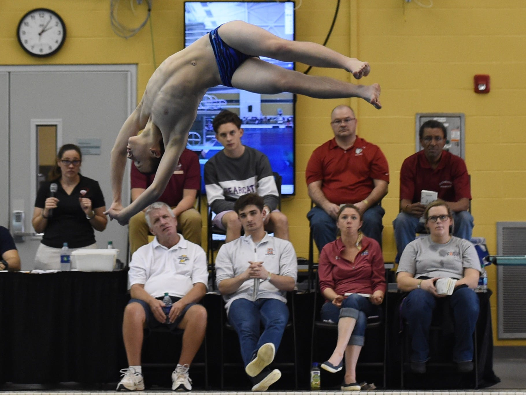 Images from Saturday's North Central Conference Swimming and Diving Championships at Purdue. Logan Buckley.