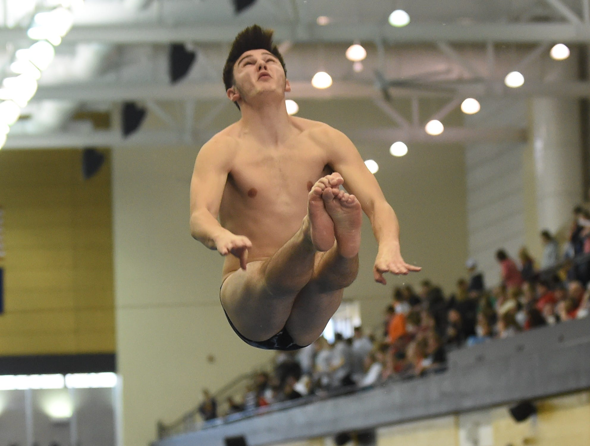 Images from Saturday's North Central Conference Swimming and Diving Championships at Purdue. Clayton Vandervate.