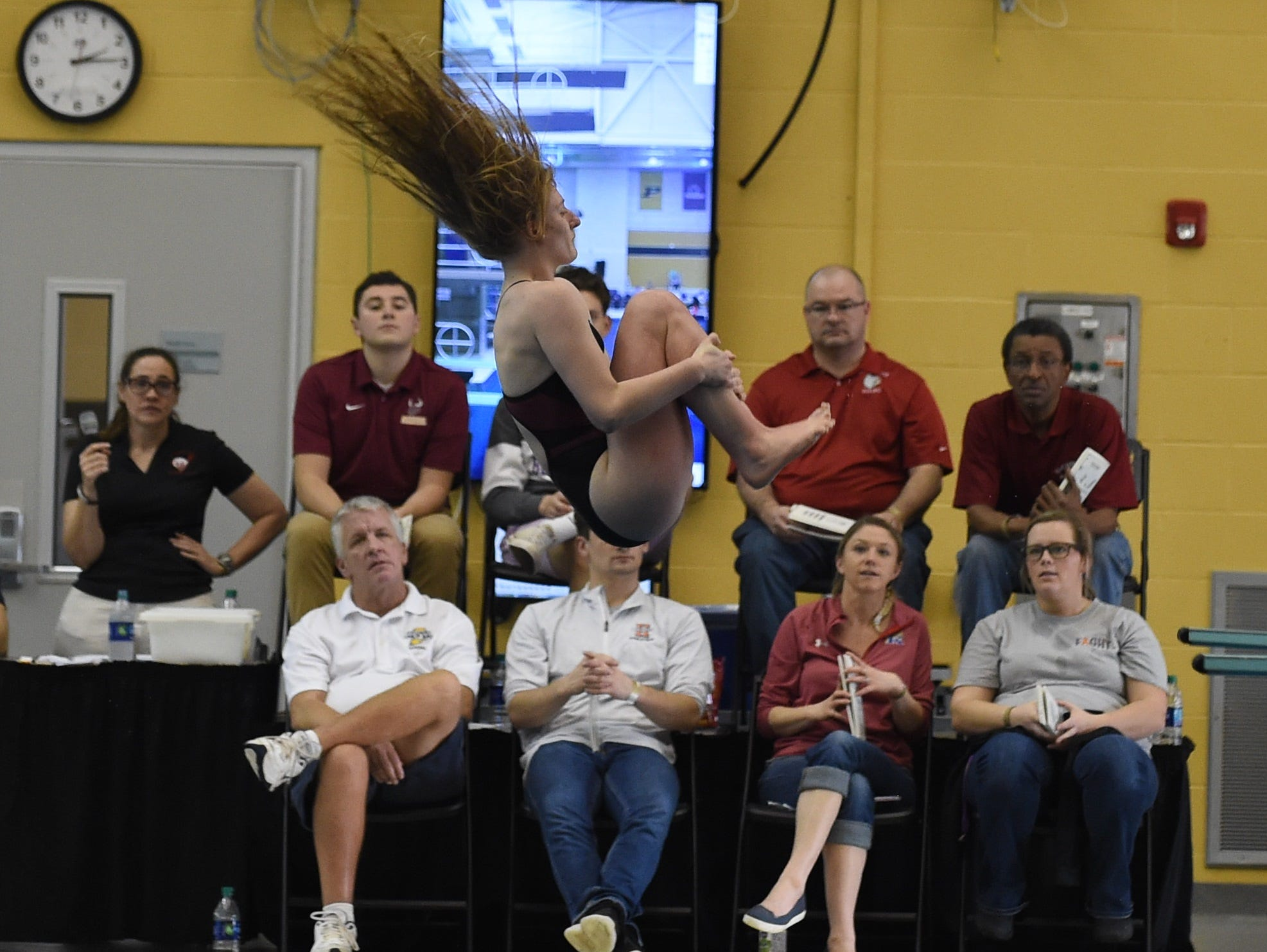 Images from Saturday's North Central Conference Swimming and Diving Championships at Purdue. Elise Hertling.