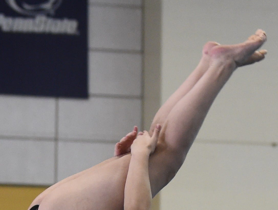 Images from Saturday's North Central Conference Swimming and Diving Championships at Purdue. Haley Bunnel.