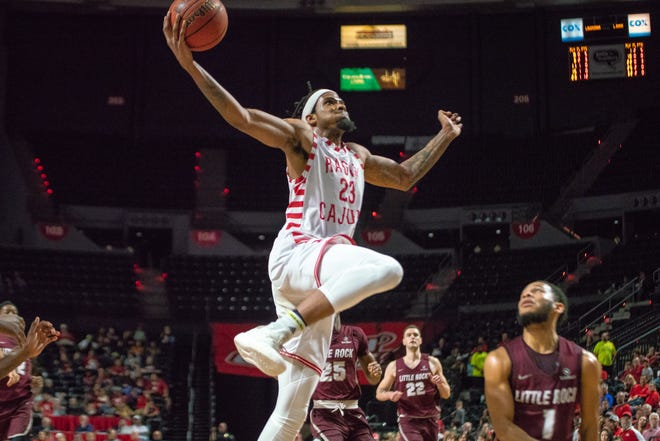 UL's JaKeenan Gant explodes for a Cajundome record 45 points to lead the Cajuns to a 75-61 win over Little Rock on Saturday.