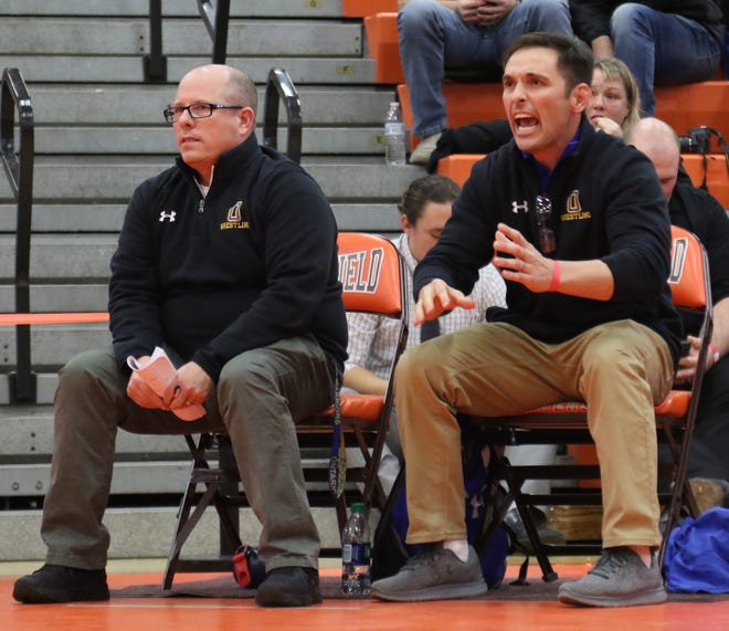 Ontario's Wes Turnbaugh (right) will take over the head wrestling coaching duties for former head coach Kevin Kroll (left) beginning in the 2021-22 season.