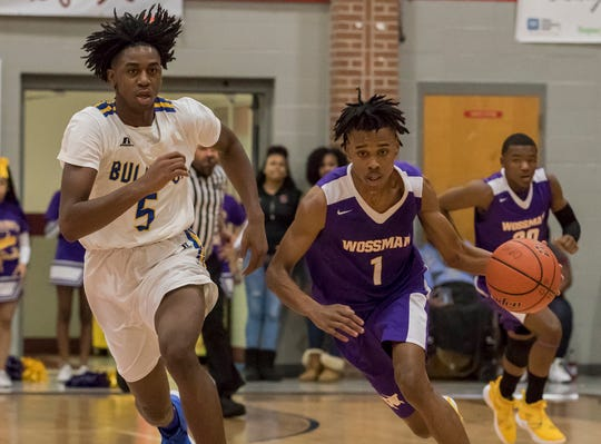 While Rayson Robinson's (1) jump shot got him on the court early on, the improvement in his overall game made him a first-team All-NELA selection by the News-Star and a second team All-State selection from the Louisiana Sports Writer's Association.