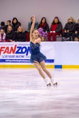 Ava Ziegler, a 12-year-old from Dover, won U.S. Figure Skating's Eastern Sectional