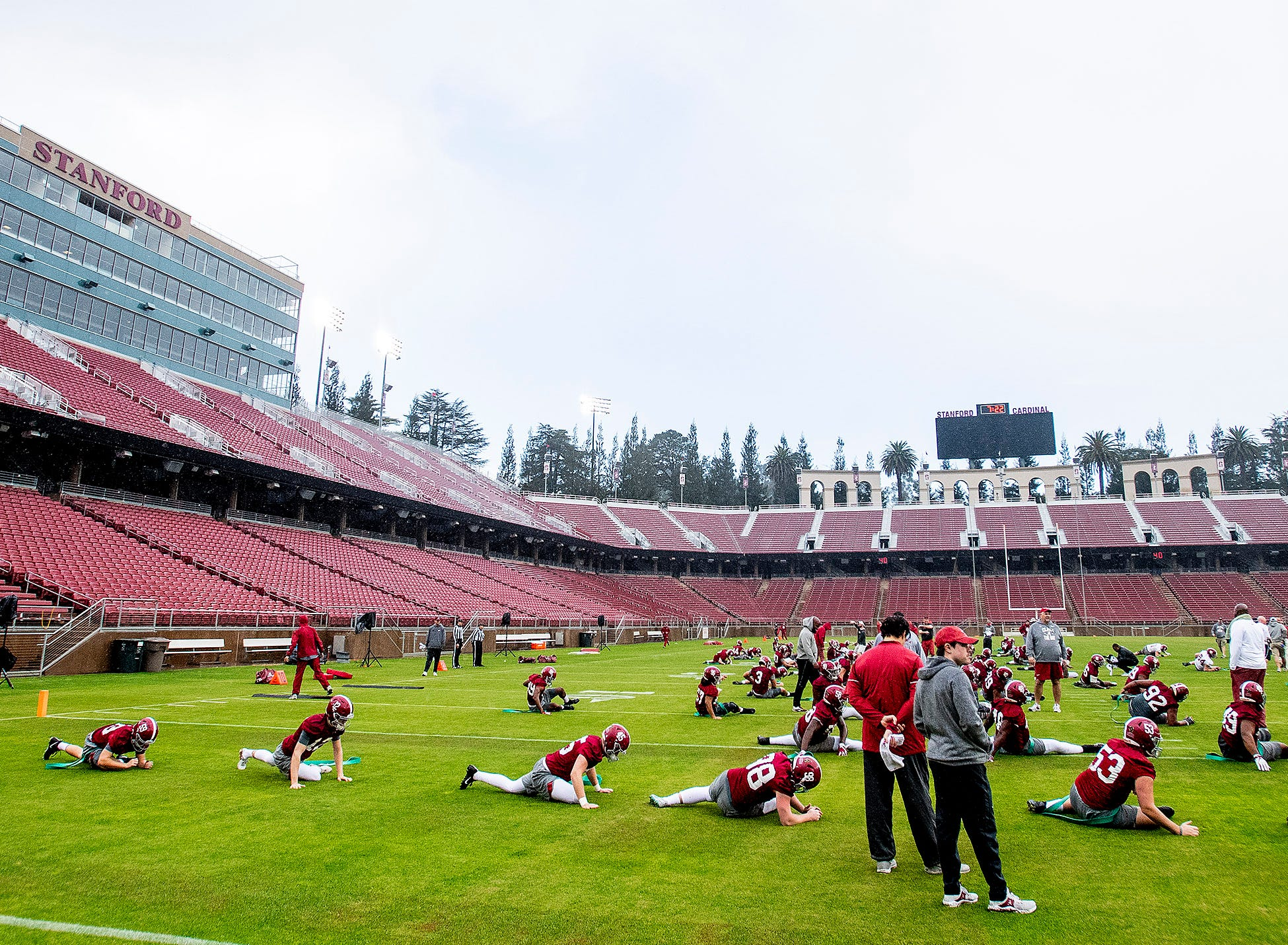 Alabama practices on the Stanford campus in Stanford, Ca., on Saturday January 5, 2019.