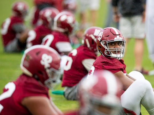 Alabama defensive lineman Raekwon Davis (99) as Alabama practices on the Stanford campus in Stanford, Ca., on Saturday January 5, 2019.