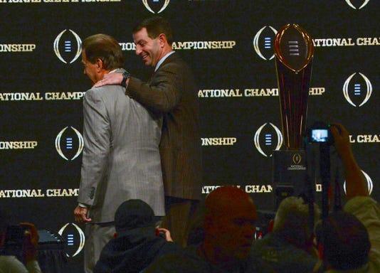 Coaches Press Conference Clemson Alabama