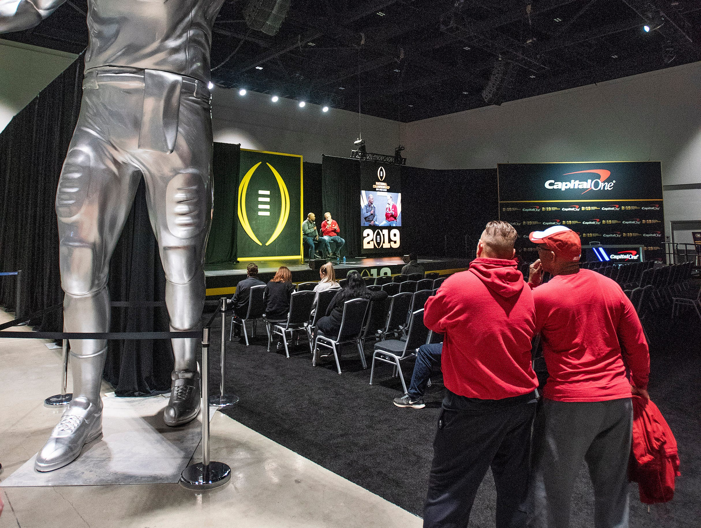 College Football Fans attend Playoff Fan Central at the College Football National Championship in San Jose, Ca., on Sunday January 6, 2019.