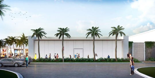 This rendering of the new Apple store under construction at Waterside Shops in North Naples doesn't really do it justice. Glass panels along the front of the new store will give it a modern look.
