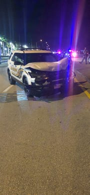 This Collier County Sheriff's Office vehicle was involved in a crash Saturday evening, Jan. 5, 2019, at U.S. 41 north of Immokalee Road in North Naples, the Florida Highway Patrol reported. The deputy was taken to a hospital, the FHP said.