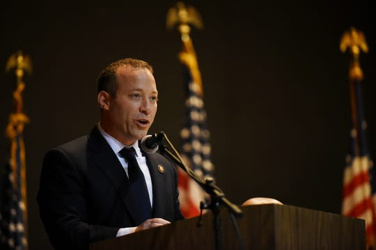 Congressman Josh Gottheimer attends the Dumont reorganization meeting in Dumont on Saturday January 5, 2019.