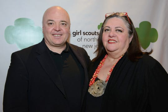 Consumer and family digital use expert Parry Aftab, seen here with Allan McCullough at the Women of Achievement Gala to benefit the Girl Scouts of Northern New Jersey in 2014