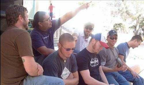 Members of Liquid Cheese, from left, Shawn Hunton, John Michael Vasquez, Danny Sullivan, Doug Neal, Sam Sullivan, Jesse Sullivan and Roy Morales