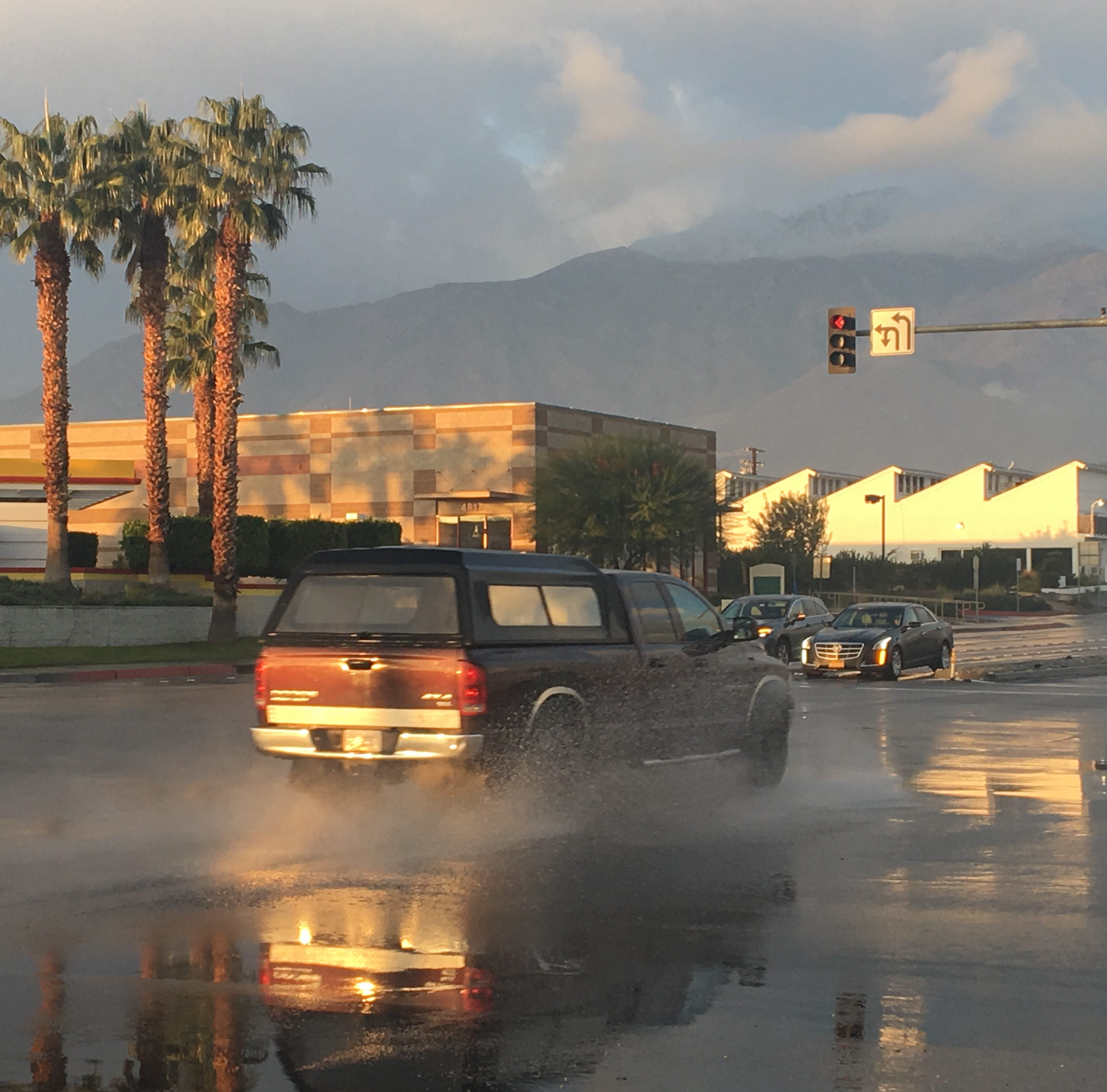 Palm Springs and other desert cities got some rain Sunday morning. Here's how much