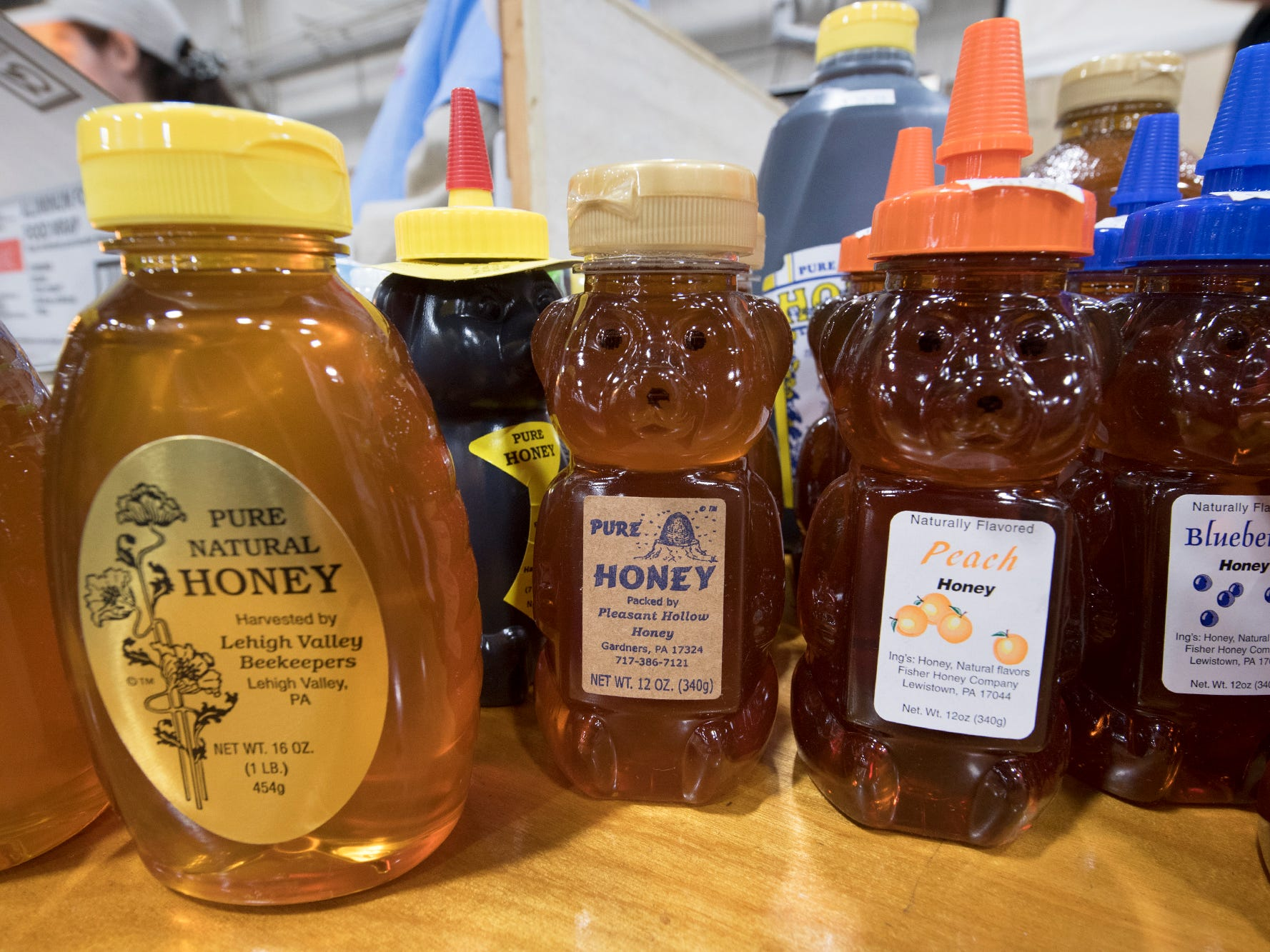 Pennsylvania honey on display in the food court during The 103rd Pennsylvania Farm Show in Harrisburg Sunday January 6, 2019.