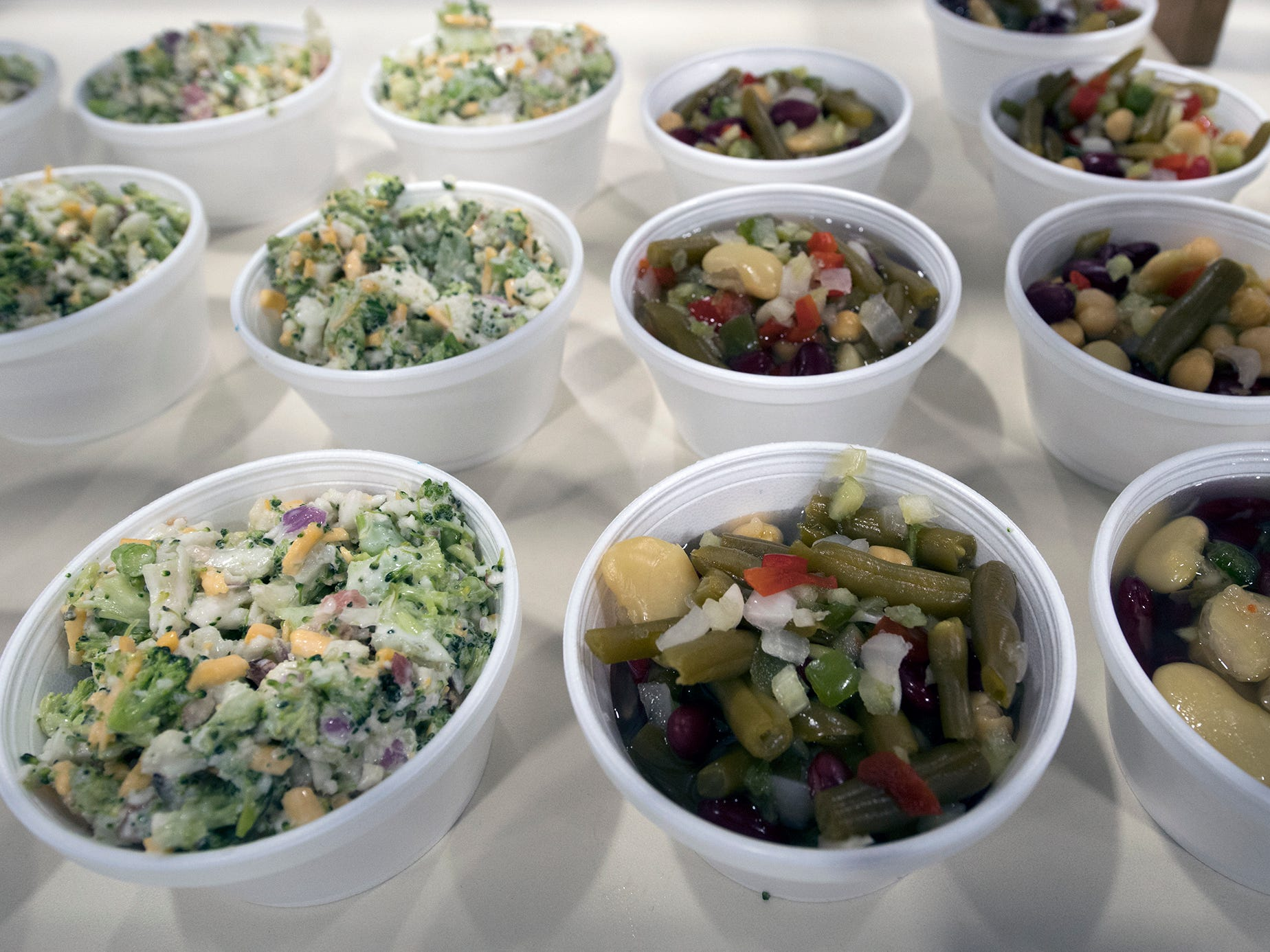 Salads presented by the Pennsylvania Vegetable Growers Association in the food court during The 103rd Pennsylvania Farm Show in Harrisburg Sunday January 6, 2019.