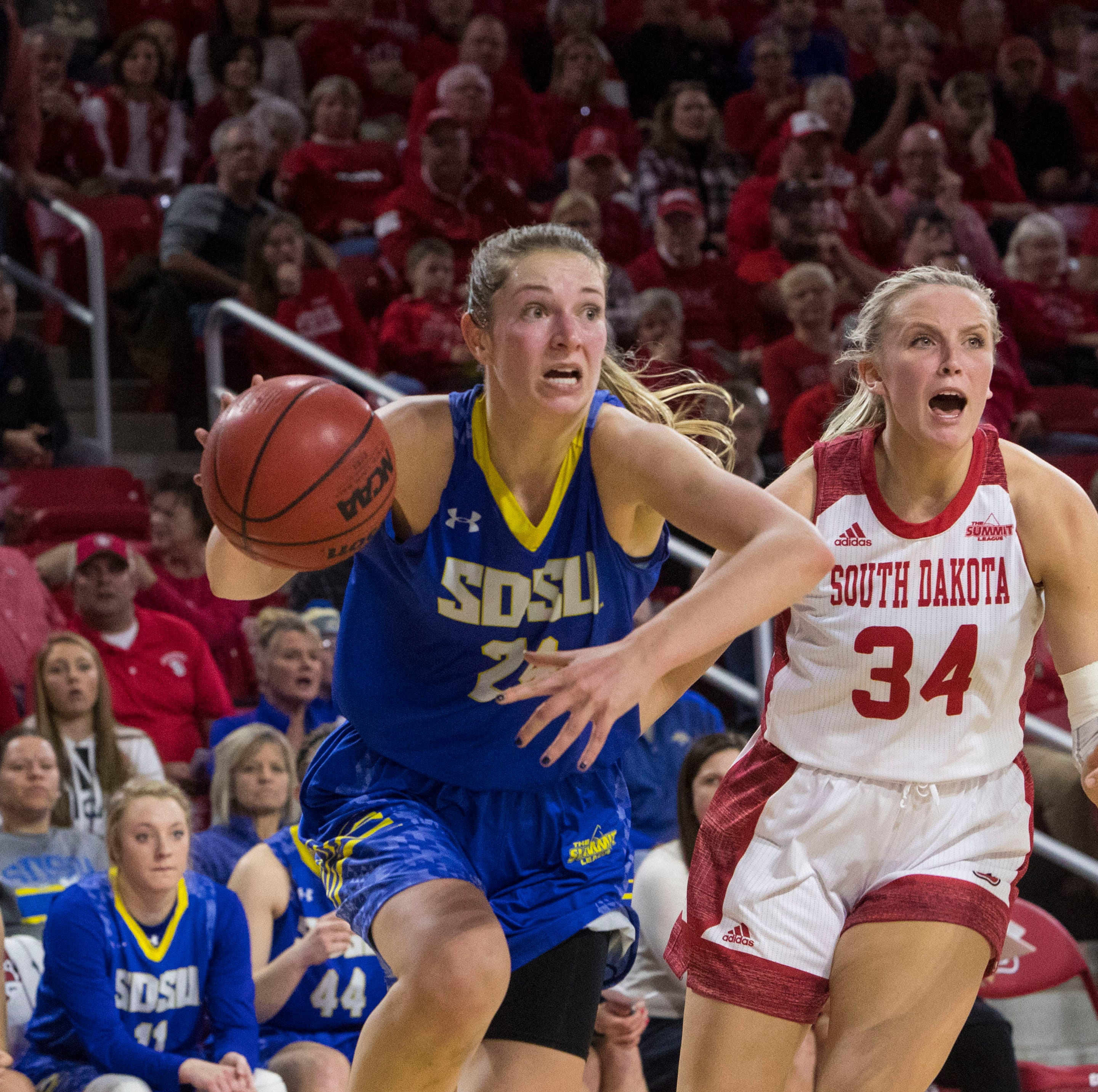 Tagyn Larson doing heavy lifting for South Dakota State women