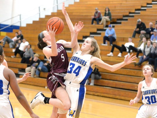 Stuarts Draft's Lyndsay Harris puts up a shot Saturday at the Play for Preemies Showcase at Western Albemarle High School.